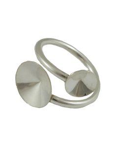 Comprar anillo plata para rivolis de 8 y 12 mm