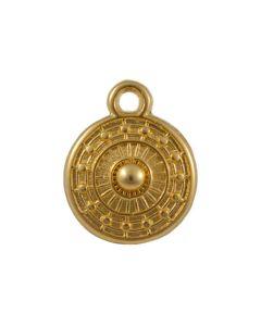 Comprar charm etnico 9 mm dorado