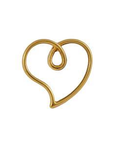 Comprar charm silueta corazón dorado