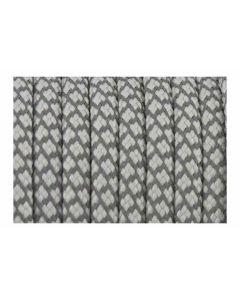 Cordón paracord gris con brillo de 5 mm