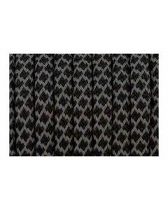 Cordón paracord negro con brillo de 5 mm
