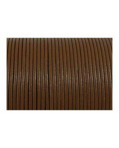Cordón cuero marrón claro 2 mm