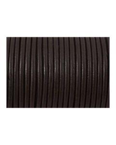 Cordón cuero marrón 3 mm