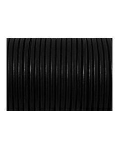 Cordón cuero negro 3 mm