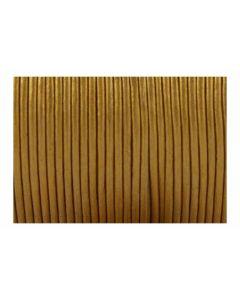 Cordón cuero metálico cobre 1,5 mm