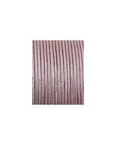 Cordón cuero metálico fucsia 1,5 mm