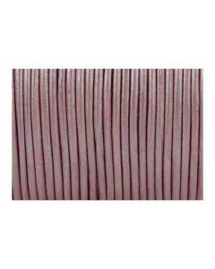 Cordón cuero metálico rosa 1,5 mm