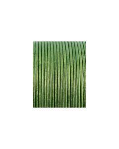 Cordón cuero metálico verde 1,5 mm