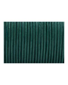Cordón cuero metálico verde azul 1,5 mm