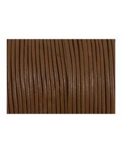 Cordón cuero marrón claro 1,5 mm