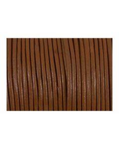 Cordón cuero marrón claro 3 mm