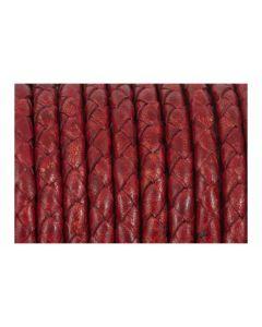 Comprar cuero trenzado rojo 5 mm