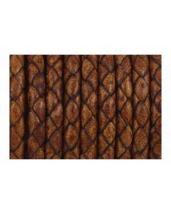 Cuero color tabaco trenzado 5 mm