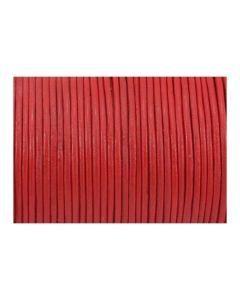 Cordón cuero rojo 1,5 mm
