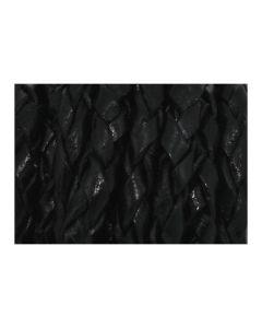 Cuero trenzado negro 4 mm