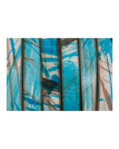 Cuero multicolor azul de 10 mm