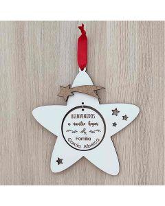 Comprar estrella navidad con nombre de madera