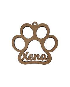 Comprar huella mascota navidad con nombre de madera