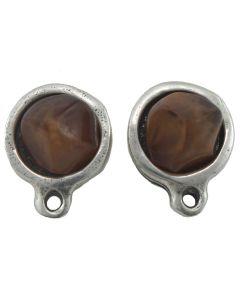 Pendiente con anilla y cabujon 8 mm