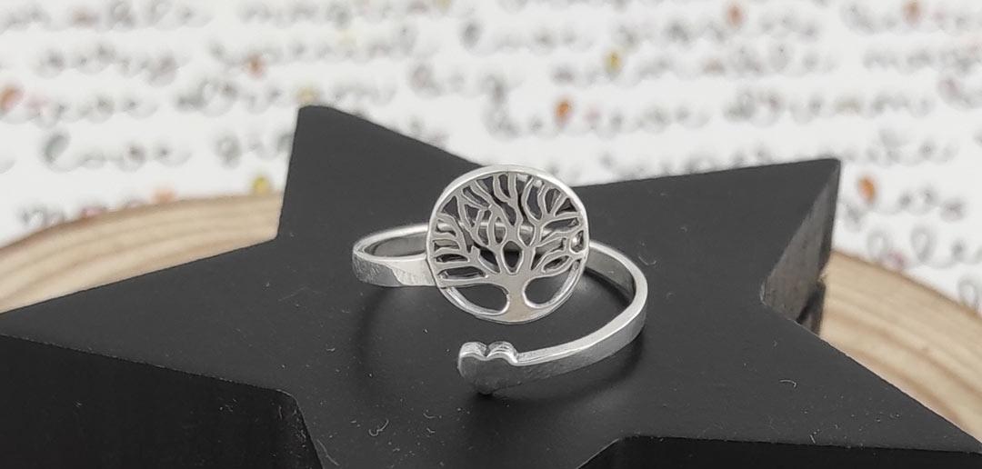Anillo plata árbol de la vida
