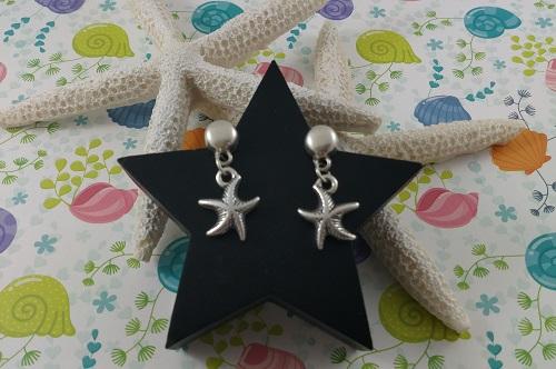 Pendientes con Charm Estrella de Mar